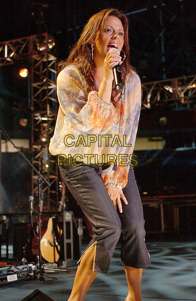 SARA EVANS.2007 CMA Music Festival held at LP Field, Nashville, Tennessee , USA, 08 June 2007..country live on stage concert half 3/4 length.CAP/ADM/LF.©Laura Farr/AdMedia/Capital Pictures.