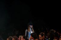 BUENOS AIRES, ARGENTINA , 28 DE FEVEREIRO 2013 - BUENOS AIRES FASHION WEEK - Modelo durante desfile da grife Cora Groppo no terceiro dia de desfiles do Buenos Aires Fashion Week no La Rural em Buenos Aires capital da Argentina, nesta quinta-feira, 28. (FOTO: PATRICIO MURPHY / BRAZIL PHOTO PRESS).