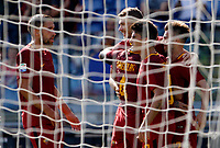 Calcio, Serie A: Roma vs Udinese. Roma, stadio Olimpico, 23 settembre 2017.<br /> Roma&rsquo;s Stephan El Shaarawy, right, celebrates with teammates after scoring during the Italian Serie A football match between Roma and Udinese at Rome's Olympic stadium, 23 September 2017. Roma won 3-1.<br /> UPDATE IMAGES PRESS/Riccardo De Luca