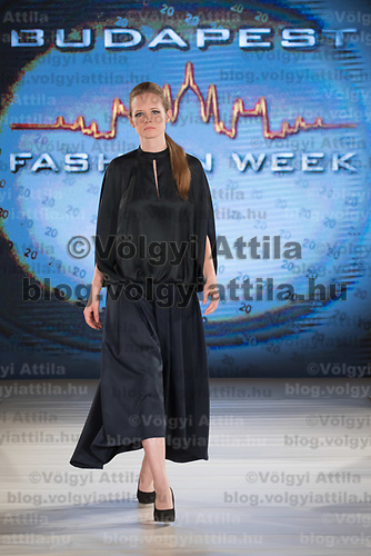 Model presents creation by brand Feelomena during the Budapest Fashion Week held in Budapest, Hungary on April 22, 2018. ATTILA VOLGYI