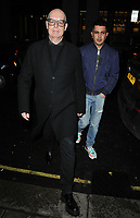 Neil Tennant and guest at the George Michael Collection VIP private view &amp; reception, Christie's London, King Street Saleroom, King Street, London, England, UK, on Tuesday 12th March 2019.<br /> CAP/CAN<br /> &copy;CAN/Capital Pictures