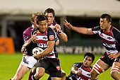 Tim Nanai-Williams fights his way out of Robbie Robinsons tackle. Air New Zealand Cup Rugby game between Counties Manukau Steelers and Southland, played at Bayer Growers Stadium Pukekohe on Thursday September 17th 2009. Southland won the game 14 - 6 after leading 8 - 6 at halftime.