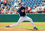 4 March 2009: Washington Nationals' pitcher Collin Balester on the mound during a Spring Training game against the New York Mets at Space Coast Stadium in Viera, Florida. The Nationals rallied to defeat the Mets 6-4 . Mandatory Photo Credit: Ed Wolfstein Photo