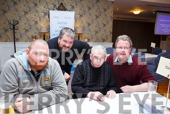 The Mid Kerry quartet of Ger Daly, Danny McClure, Damien McCarthy and Maurice Daly quiz team at the Pieta House Quiz night in the Rose Hotel on Thursday night last.