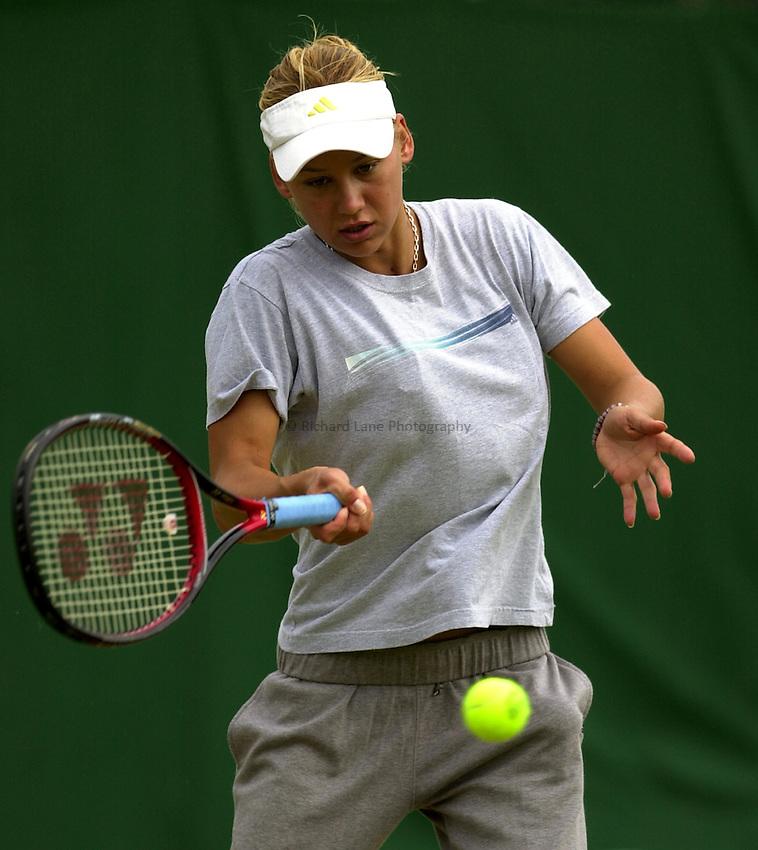 Photo: Richard Lane..DFS Classic Women's International Tennis at Edgebaston. 09/06/2003..Anna Kournikova.