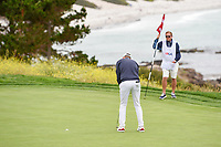 Bernd Wiesberger (AUT) sinks his putt on 8 during round 2 of the 2019 US Open, Pebble Beach Golf Links, Monterrey, California, USA. 6/14/2019.<br /> Picture: Golffile | Ken Murray<br /> <br /> All photo usage must carry mandatory copyright credit (© Golffile | Ken Murray)