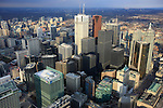 Amérique, Canada, province de l'Ontario, Toronto, vue du centre-ville depuis la tour CN//America, Canada, province of Ontario, Toronto, view of downtown from the CN Tower
