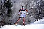 10 MAR 2016:  Moritz Madlener (2) of the University of Denver competes in the 10K skate during the NCAA Division I Men's and Women's Skiing Championships take place at Howelsen Hill Ski Area in Steamboat Springs, CO.    Madlener placed second with a 22:26.6 time.  Jamie Schwaberow/NCAA Photos