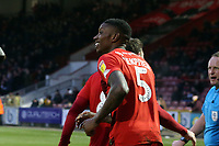 O's Marvin Ekpiteta after scoring O's first during Leyton Orient vs Newport County, Sky Bet EFL League 2 Football at The Breyer Group Stadium on 25th January 2020