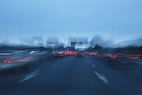 Blurred car rear lights<br />
