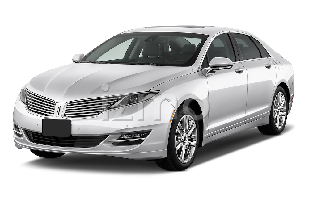 Front three quarter view of a 2013 Lincoln MKZ Hybrid Sedan