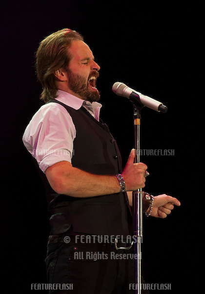 Alfie Boe on stage at The 2012 BBC Proms in the Park, Hype Park, London. 08/09/2012. Simon Burchell / Featureflash