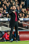 Coach Pablo Machin Diez of Girona FC gestures during the La Liga 2017-18 match between FC Barcelona and Girona FC at Camp Nou on 24 February 2018 in Barcelona, Spain. Photo by Vicens Gimenez / Power Sport Images
