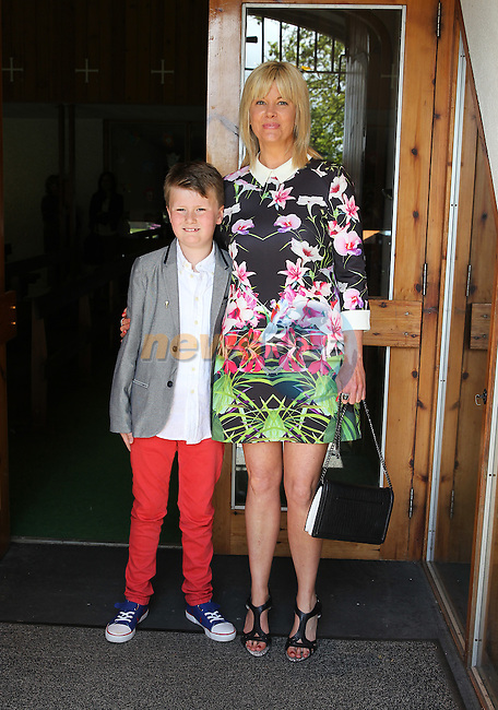 Milo O'Brien with his mam Ann on communion day in Julianstown.