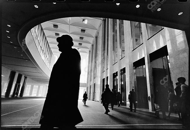 World Trade Center ,South Tower Lobby, New York City, New York, USA, November 1975