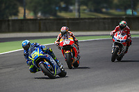Andrea Iannone of Italy and Team SUZUKI ECSTAR, Dani Pedrosa of Spain and Repsol Honda Team, Michele Pirro of Italy and Ducati during the MotoGP Italy Grand Prix 2017 at Autodromo del Mugello, Florence, Italy on 4th June 2017. Photo by Danilo D'Auria.<br /> <br /> Danilo D'Auria/UK Sports Pics Ltd/Alterphotos /NortePhoto.com