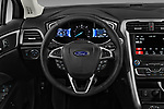 Car pictures of steering wheel view of a 2018 Ford Fusion Hybrid SE 4 Door Sedan