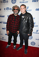 LOS ANGELES, CA - NOVEMBER 7: Mr. Brainwash, Shepard Fairey, at Photo Op For Hulu's 'Obey Giant at the The Theatre at Ace Hotel in Los Angeles, California on November 7, 2017. <br /> CAP/MPI/FS<br /> &copy;FS/MPI/Capital Pictures