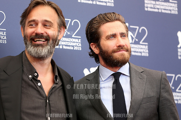 Balthasar Kormakur & Jake Gyllenhaal at the photocall for Everest at the 2015 Venice Film Festival.<br /> September 02, 2015  Venice, Italy<br /> Picture: Kristina Afanasyeva / Featureflash