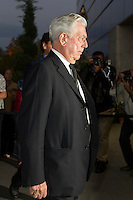 Mario Vargas Llosa visits San Isidro funeral home following the death of Miguel Boyer in Madrid, Spain. September 29, 2014. (ALTERPHOTOS/Victor Blanco) /nortephoto.com