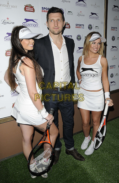Carl Froch<br /> attended the Slazenger Wimbledon Party, Whisky Mist bar &amp; nightclub, Hertford St., London, England, UK, 27th June 2013.<br /> full length white shirt jeans black jacket blazer <br /> CAP/CAN<br /> &copy;Can Nguyen/Capital Pictures