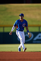 AZL Cubs 2 second baseman Chase Strumpf (15) during an Arizona League game against the AZL Dbacks on June 25, 2019 at Sloan Park in Mesa, Arizona. AZL Cubs 2 defeated the AZL Dbacks 4-0. (Zachary Lucy/Four Seam Images)