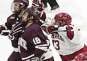 ?, Tylor Spink (Colgate - 18), Greg Gozzo (Harvard - 13) -  - The Harvard University Crimson defeated the visiting Colgate University Raiders 7-4 (EN) on Saturday, February 20, 2016, at Bright-Landry Hockey Center in Boston, Massachusetts.
