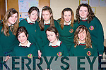 SERVICE: Students from Causeway Comprehensive Secondry School, helping out at the 50th Years celebration at the school on Saturday. Fron t l-r: Marion Leahy, Michelle Gilbert and Ann Marie Leen. Back l-r: Tracey Dooley, Danielle Guerin, Laraine Hobbert, Patrice Slattery and Eileen Leen..........
