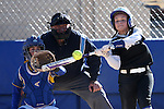Western Nevada's Triniece Lesky hits against Salt Lake Community College at Edmonds Sports Complex in Carson City, Nev., on Friday, April 15, 2016. <br />Photo by Cathleen Allison
