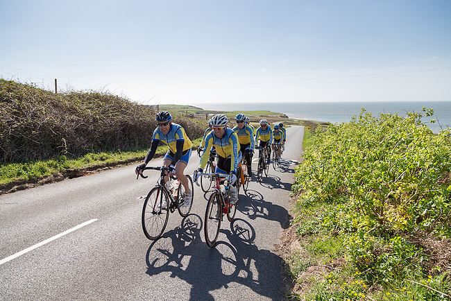Editorial photography assignment for Cycling Weekly magazine, following the Wightlink sponsored cycling team on a training ride around the Isle of Wight.