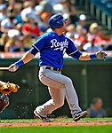 14 September 2008: Kansas City Royals' infielder Alex Gordon in action against the Cleveland Indians at Progressive Field in Cleveland, Ohio. The Royal defeated the Indians 13-3 to take the 4-game series three games to one...Mandatory Photo Credit: Ed Wolfstein Photo