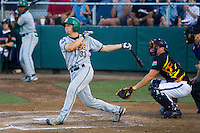 July 19, 2007: Boise Hawks' Ty Wright connects with a pitch during a Northwest League game against the Everett AquaSox at Everett Memorial Stadium in Everett, Washington.