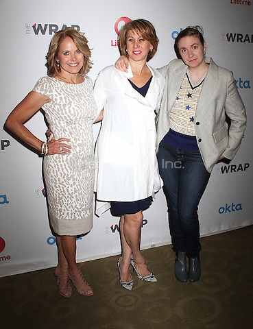 NEW YORK, NY - JUNE :  Katie Couric, Sharon Waxman, Lena Duham attend TheWrap's 2nd Power Women Breakfast New York Honoring Influential Women of Entertainment, Media, Technology and Brands in New York, New York on June 9, 2016.  Photo Credit: Rainmaker Photo/MediaPunch