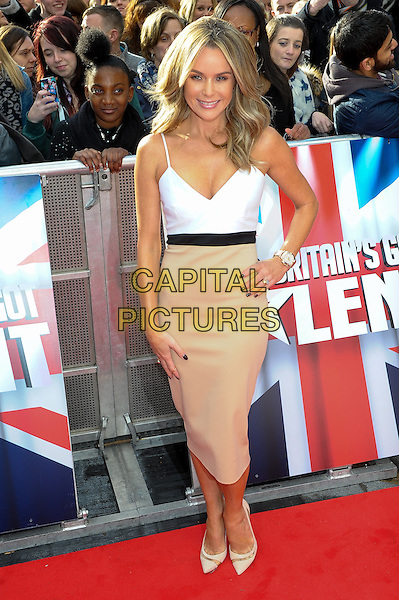LONDON, ENGLAND - FEBRUARY 11: Amanda Holden attends Britain's Got Talent London Auditions in Hammersmith on February 11, 2014 in London, England. <br /> CAP/CJ<br /> &copy;Chris Joseph/Capital Pictures