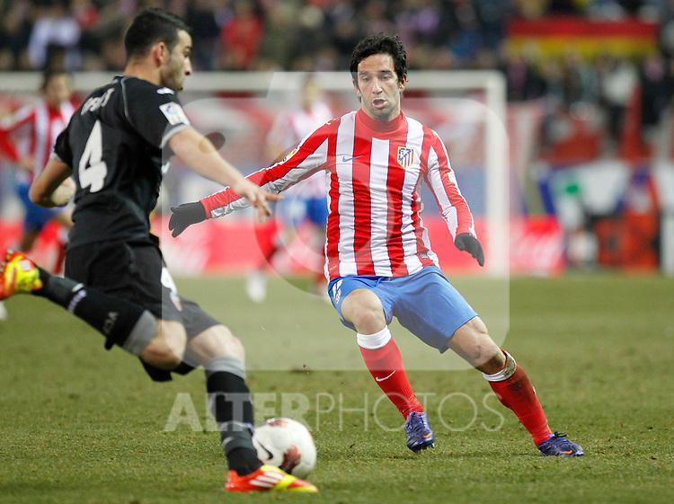 Madrid (05/02/2012) LIGA BBVA.Atletico de Madrid- Valencia C.F...ARDA.....