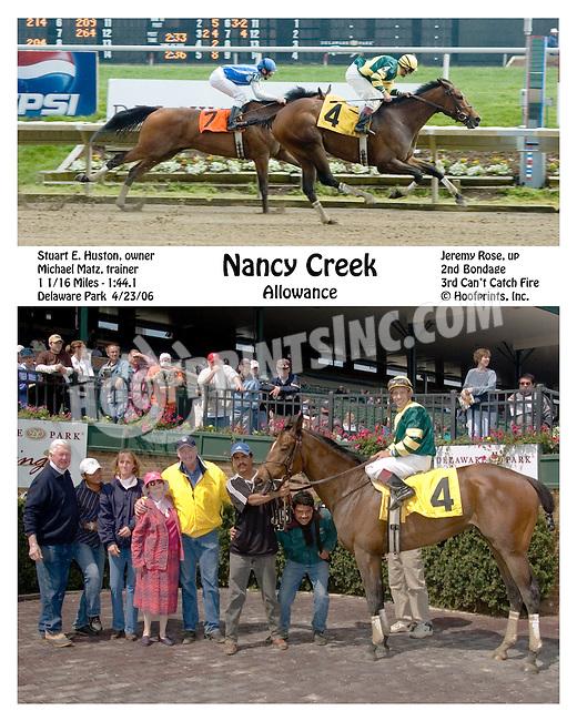 Nancy Creek winning at Delaware Park on 4/23/2006