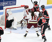 Florence Schelling (Northeastern - 41), Emily Field (BC - 15), Ashley Motherwell (BC - 18), Sonia St. Martin (Northeastern - 12), Kelly Wallace (Northeastern - 5), Stephanie Gavronsky (Northeastern - 44) - The Northeastern University Huskies defeated the Boston College Eagles in a shootout on Monday, January 31, 2012, in the opening round of the 2012 Women's Beanpot at Walter Brown Arena in Boston, Massachusetts. The game is considered a 1-1 tie for NCAA purposes.