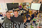 Brendan O'Donoghue of Blennerville National school parents Commitee and Principal Michael O'Connor pictured in Teacher Catherine O'Sheas class of 30 pupils in a mixed classroom of Fifth and Sixth Classes.
