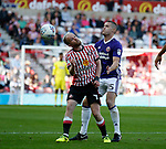Jonny Williams of Sunderland and Paul Coutts of Sheffield Utd during the Championship match at the Stadium of Light, Sunderland. Picture date 9th September 2017. Picture credit should read: Simon Bellis/Sportimage