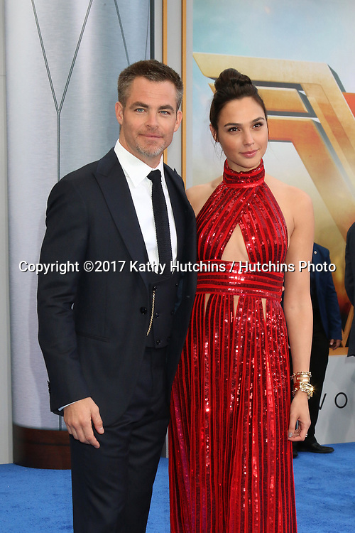 "LOS ANGELES - MAY 25:  Chris Pine, Gal Gadot at the ""Wonder Woman"" Los Angeles Premiere at the Pantages Theater on May 25, 2017 in Los Angeles, CA"