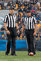 MVFC center judge Larry Hayes and umpire Jim Eckl (right).The Pitt Panthers defeated the Youngstown State Penguins 28-21 in overtime at Heinz Field, Pittsburgh, Pennsylvania on September 02, 2017.