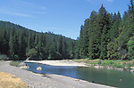 People playing at a river, Mendocino County, California