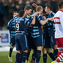 Forfar's Darren Dods celebrates after he scores their first goal.
