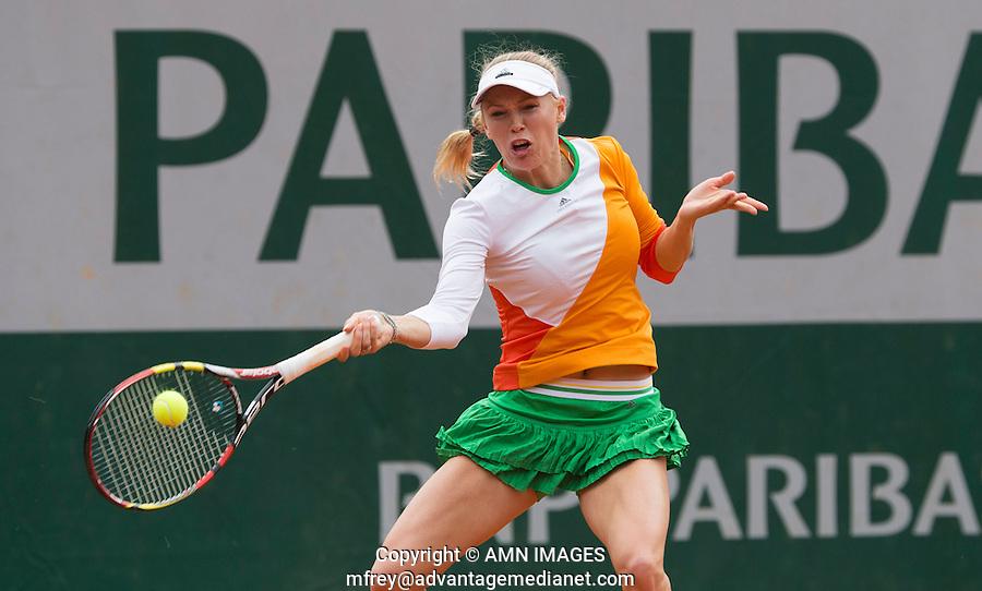 CAROLINE WOZNIACKI (DEN)<br /> <br /> Tennis - French Open 2014 -  Toland Garros - Paris -  ATP-WTA - ITF - 2014  - France - 27 May 2014. <br /> <br /> &copy; AMN IMAGES
