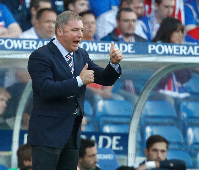 Ally McCoist urges his side on