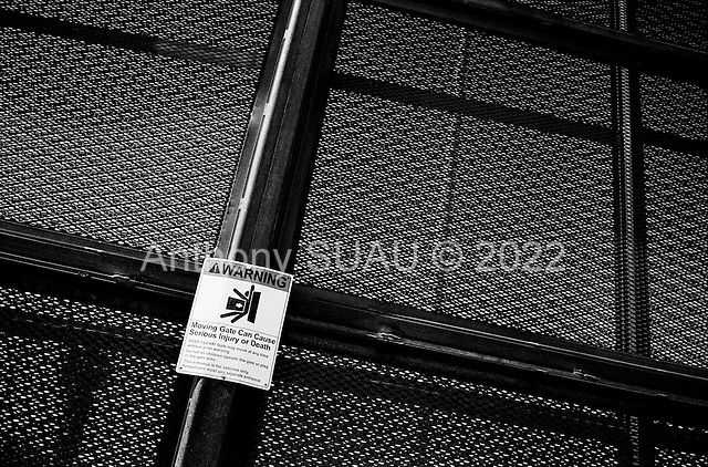 San Luis, Arizona<br /> May 1, 2008<br /> <br /> Danger of being killed from the fence is posted on the new US/Mexican border fencing around the city of San Luis. This fence has slowed down illegal immigrant crossings substantially in the past 6 months. Many of the illegal crossings have pushing out toward the Tucson sector.