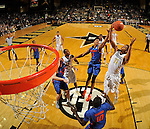 NASHVILLE, TENNESSEE - JANUARY 26:  (Editors Note: photo taken from a remote controlled backboard camera) Devin Robinson #3 of the Florida Gators and Jeff Roberson #11 of the Vanderbilt Commodores jump for a rebound at Memorial Gym on January 26, 2016 in Nashville, Tennessee.  (Photo by Frederick Breedon/Getty Images) *** Local Caption *** Devin Robinson; Jeff Roberson