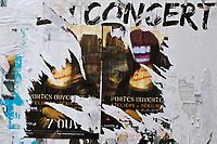 Europe/France/Ile de France/75011/Paris: Détail affiches déchirées - Rue Jean-Pierre Timbaud