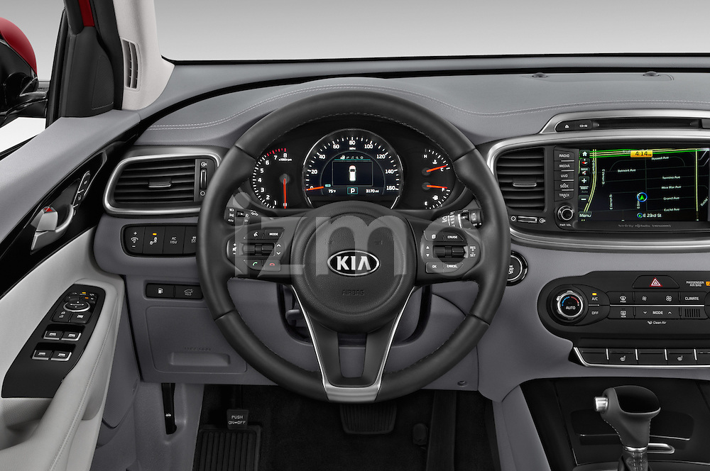 Car pictures of steering wheel view of a 2017 KIA Sorento SX V6 AT 4WD 5 Door SUV Steering Wheel