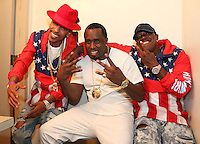 NEW ORLEANS, LA - JULY 3, 2016 Suga J, Puff Daddy & Mase backstage at Essence Festival at Mercedes Benz Superdome, July 3, 2016 in New Orleans, Louisiana. Photo Credit: Walik Goshorn / Media Punch